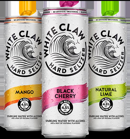 White Claw est disponible en saveurs de mangue, de cerise noire et de lime naturelle en Suisse