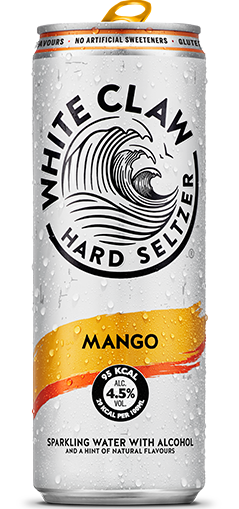 White Claw can in Mango flavour