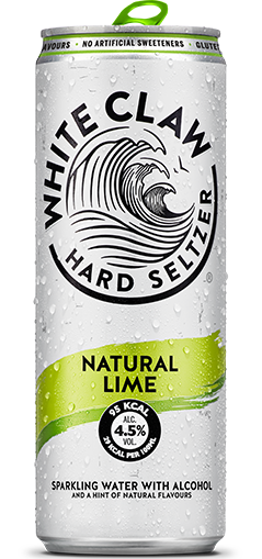 White Claw can in Natural Lime flavour